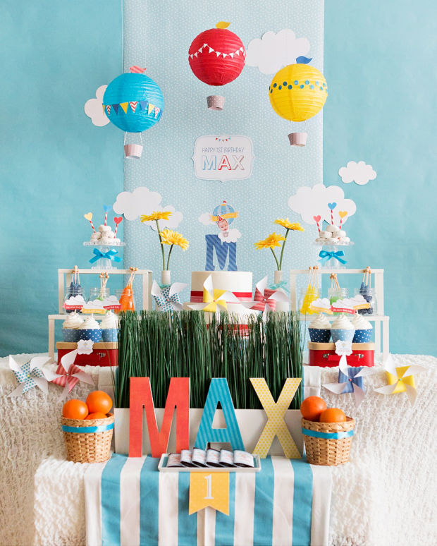 first birthday party themes ; korean-dol-first-birthday-620x774
