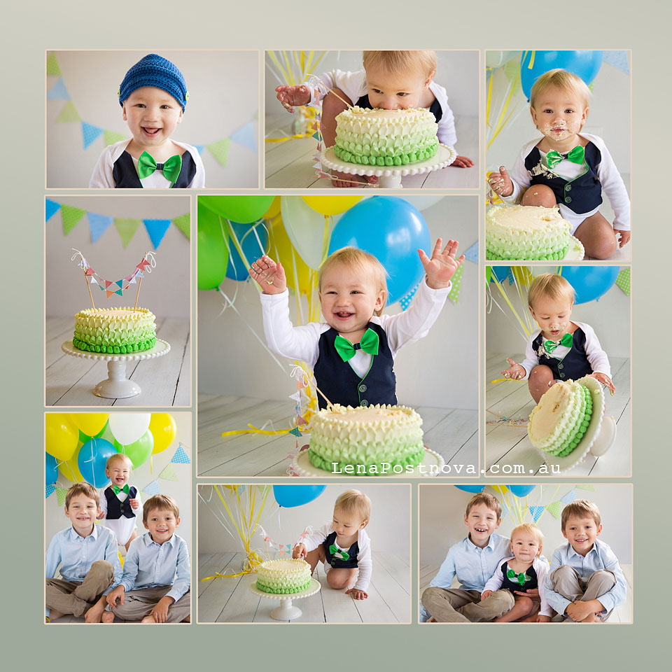 first birthday picture collage ideas ; Newborn_Photography_Sydney_Newborn_Photographer_Lena_Postnova_Baby_Cake_Smush_Boy_Session_First_Birthday_Photos_Stefan_1year_000