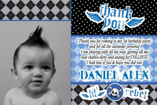 first birthday thank you card wording ; REBEL_13