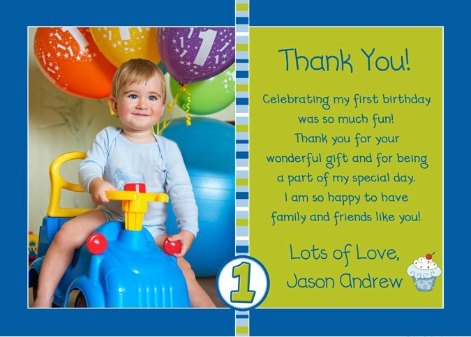 first birthday thank you card wording ; photo-cupcake-boy-blue-lime-green-thank-you-l