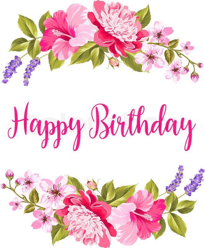 floral happy birthday images ; 800px_COLOURBOX24423266