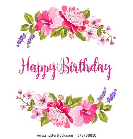 floral happy birthday images ; stock-vector-tropical-flower-garland-happy-birthday-invitation-card-with-floral-garland-and-calligraphic-text-573708910