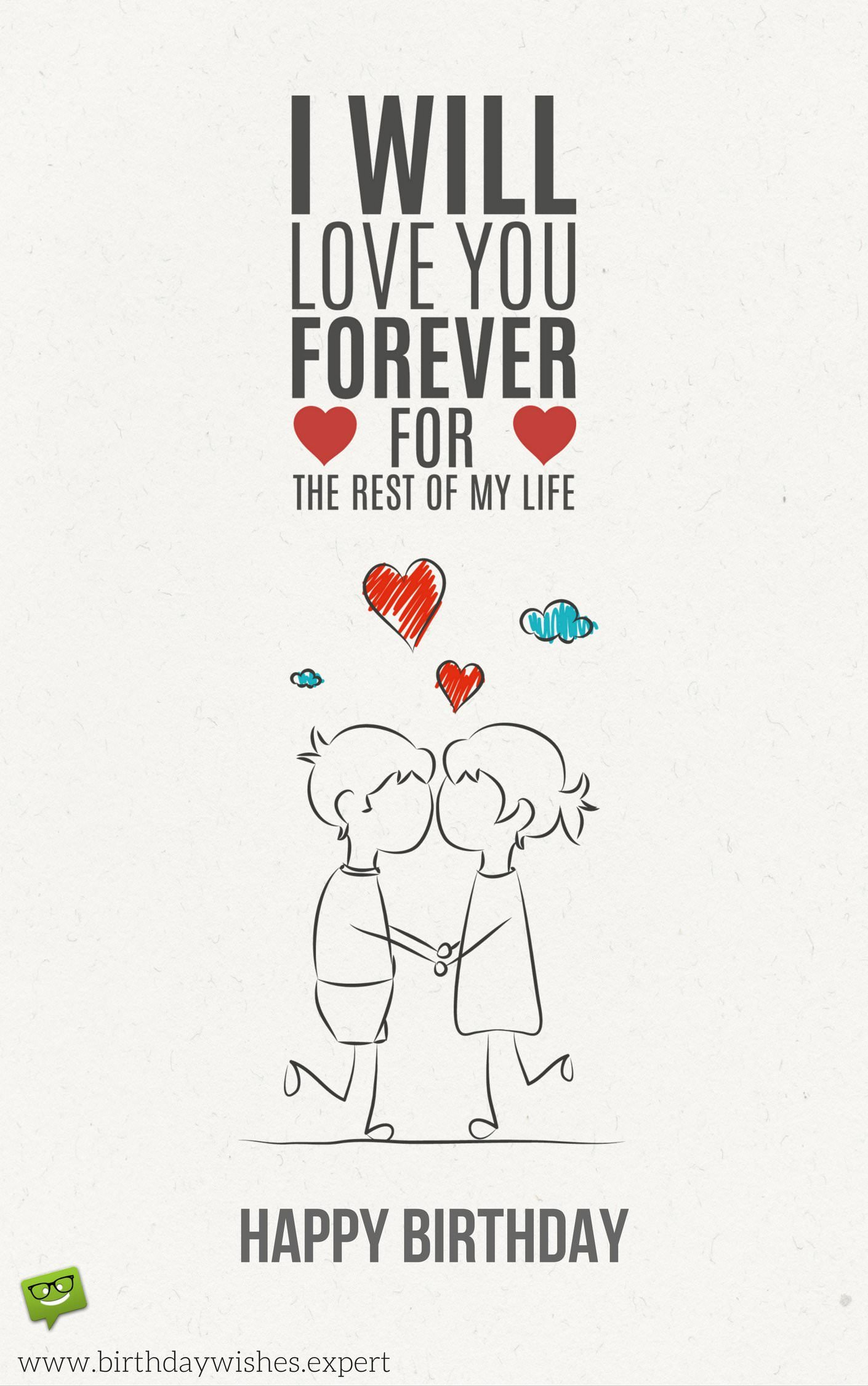 forever alone birthday card ; Cute-birthday-wish-for-my-love