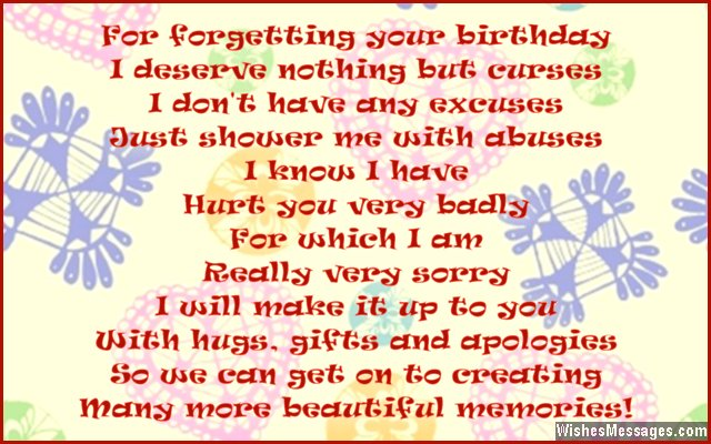 forgotten birthday poem ; Cute-belated-birthday-message-for-friends