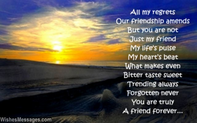 forgotten birthday poem ; Sweet-poem-about-friendship