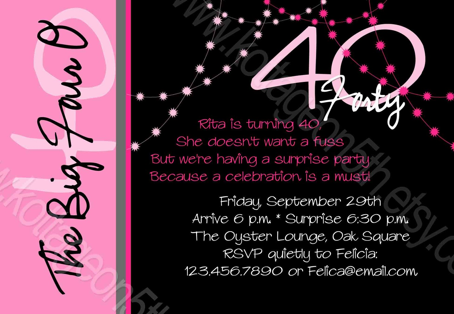 forty birthday party invitation wording ; 40th-birthday-invitation-wording-funny
