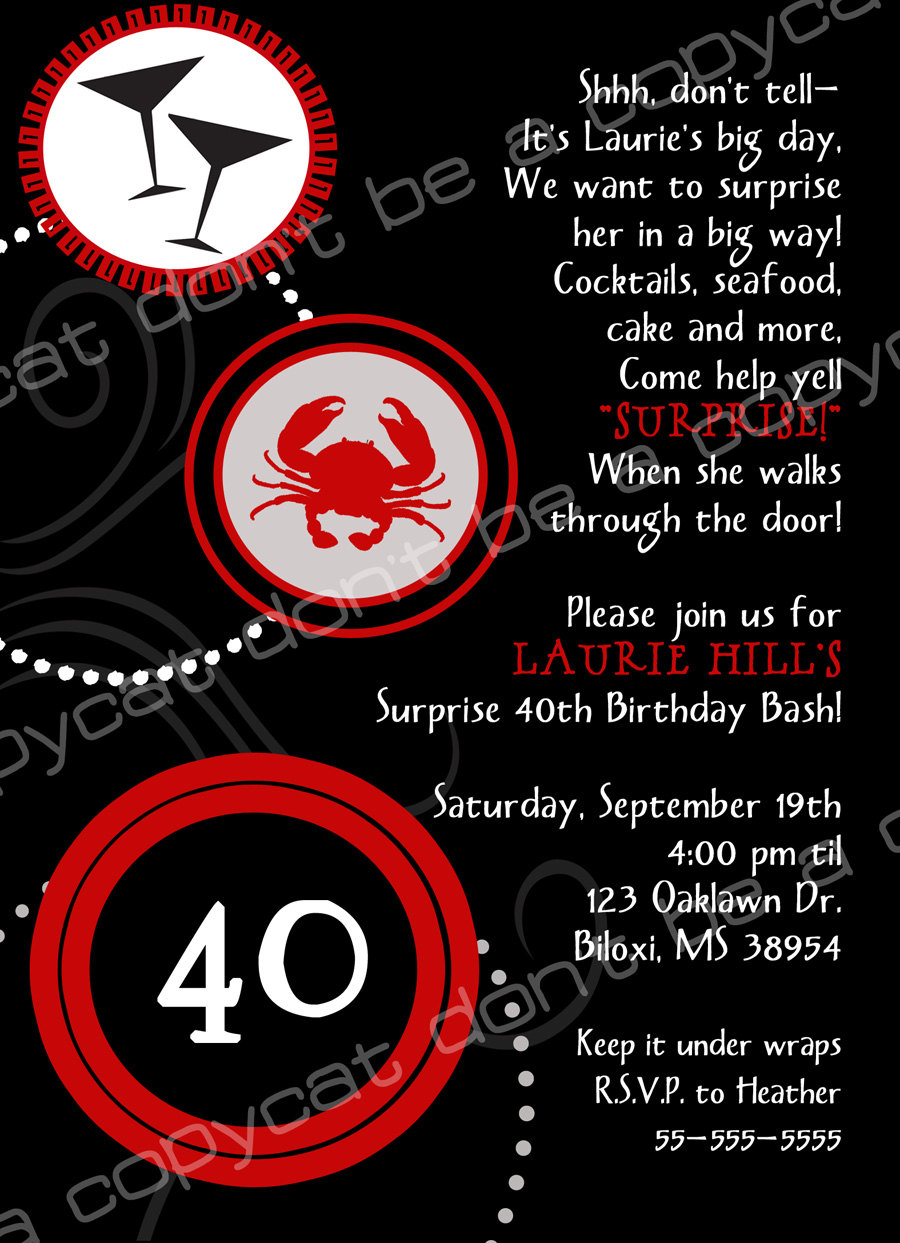 forty birthday party invitation wording ; 40th-birthday-party-invitation-wording-is-your-newest-idea-of-pretty-Party-invitation-15