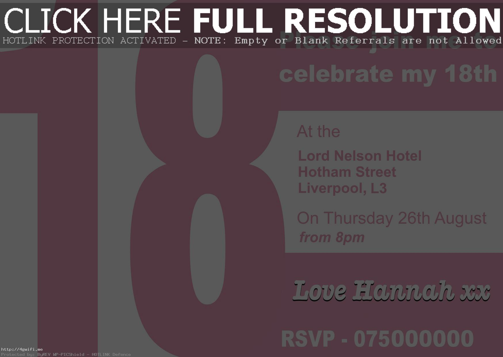 free 18th birthday cards ; sample-18th-birthday-cards-invitations-free-design-18-invitation-templates