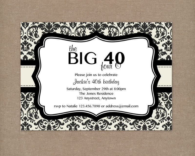 free 40th birthday invitation wording samples ; 40th-Birthday-Party-Invitations
