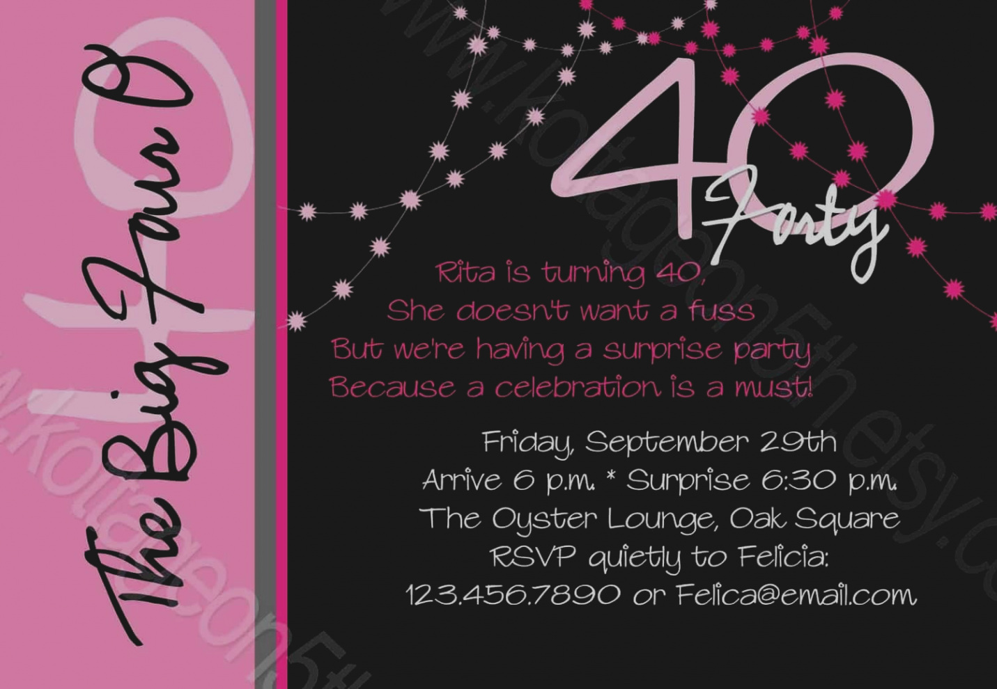 free 40th birthday invitation wording samples ; gallery-fortieth-birthday-invitation-wording-how-to-select-the-40th-free-ideas