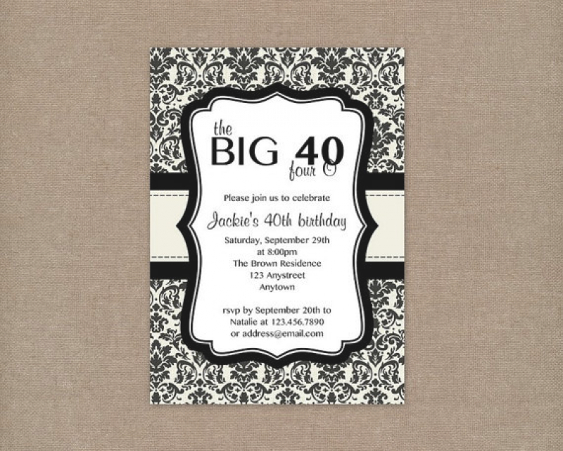 Free 40th Birthday Invitations Templates 2520printable252040th2520birthday2520party