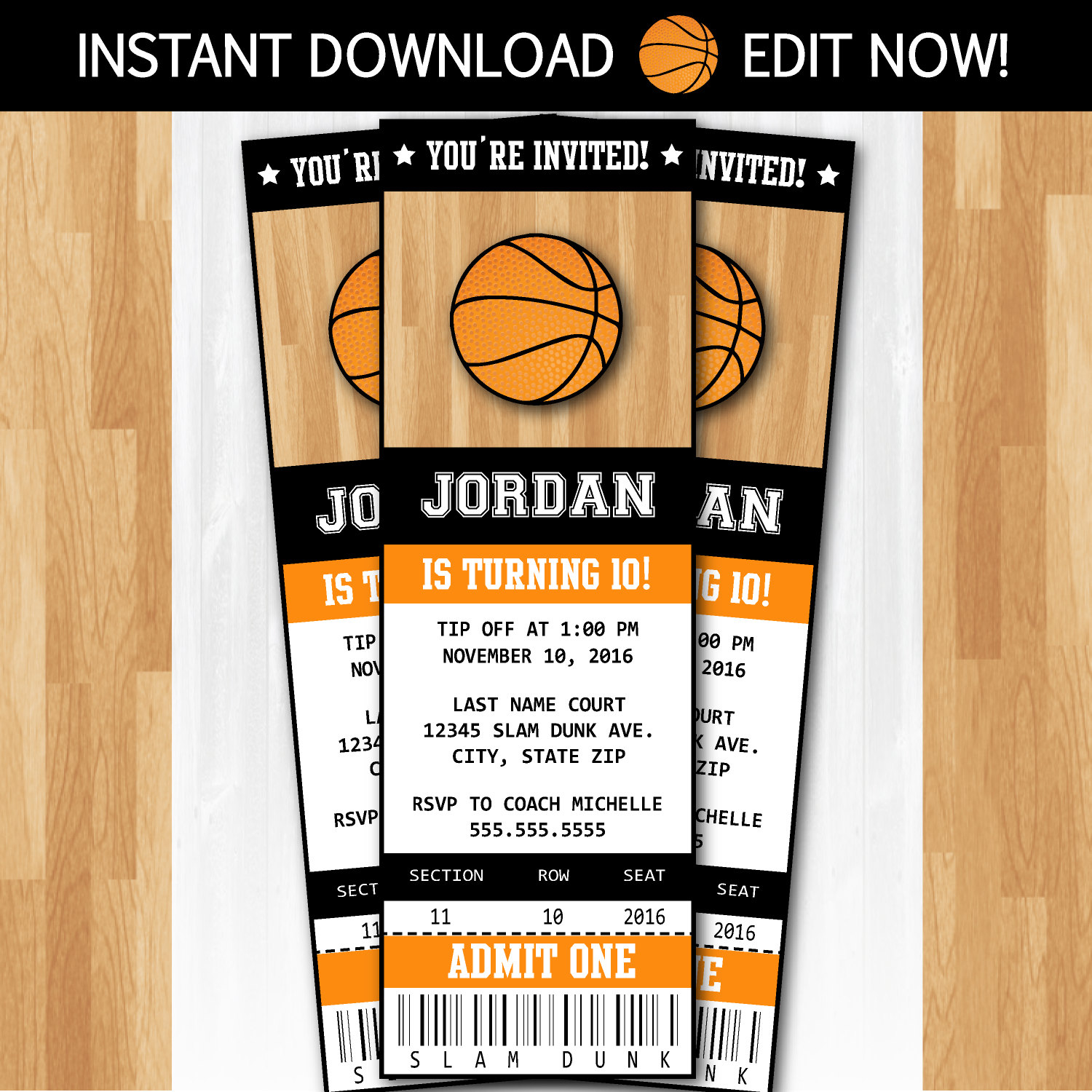 free basketball birthday invitation templates ; basketball-party-invitations-and-attractive-invitations-fitting-aimed-at-giving-pleasure-to-your-Party-Invitation-Templates-2