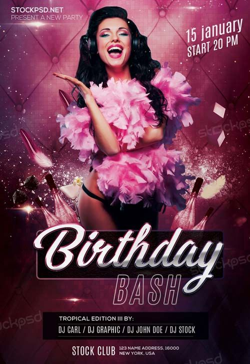 free birthday flyer template photoshop ; 3a76d45a4ecf27c3ccf226dab24c9a50