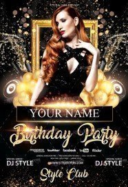 free birthday flyer template photoshop ; Birthday-Party-186x272