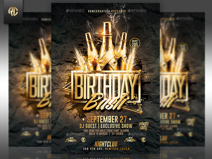 free birthday flyer template photoshop ; birthday-flyer-maker-gold-birthday-bash-psd-flyer-template-romecreation-on-deviantart