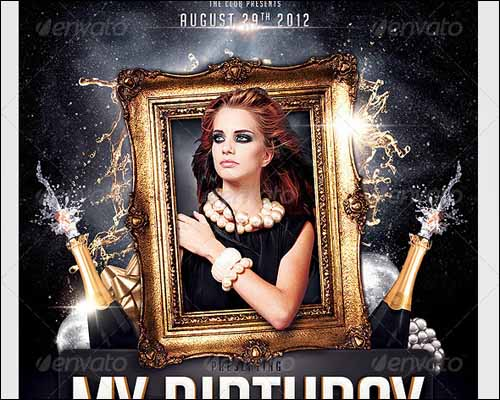 free birthday flyer template photoshop ; birthday-party-invitation-flyer-template
