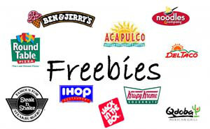 free food on your birthday ; Birthday-Freebies