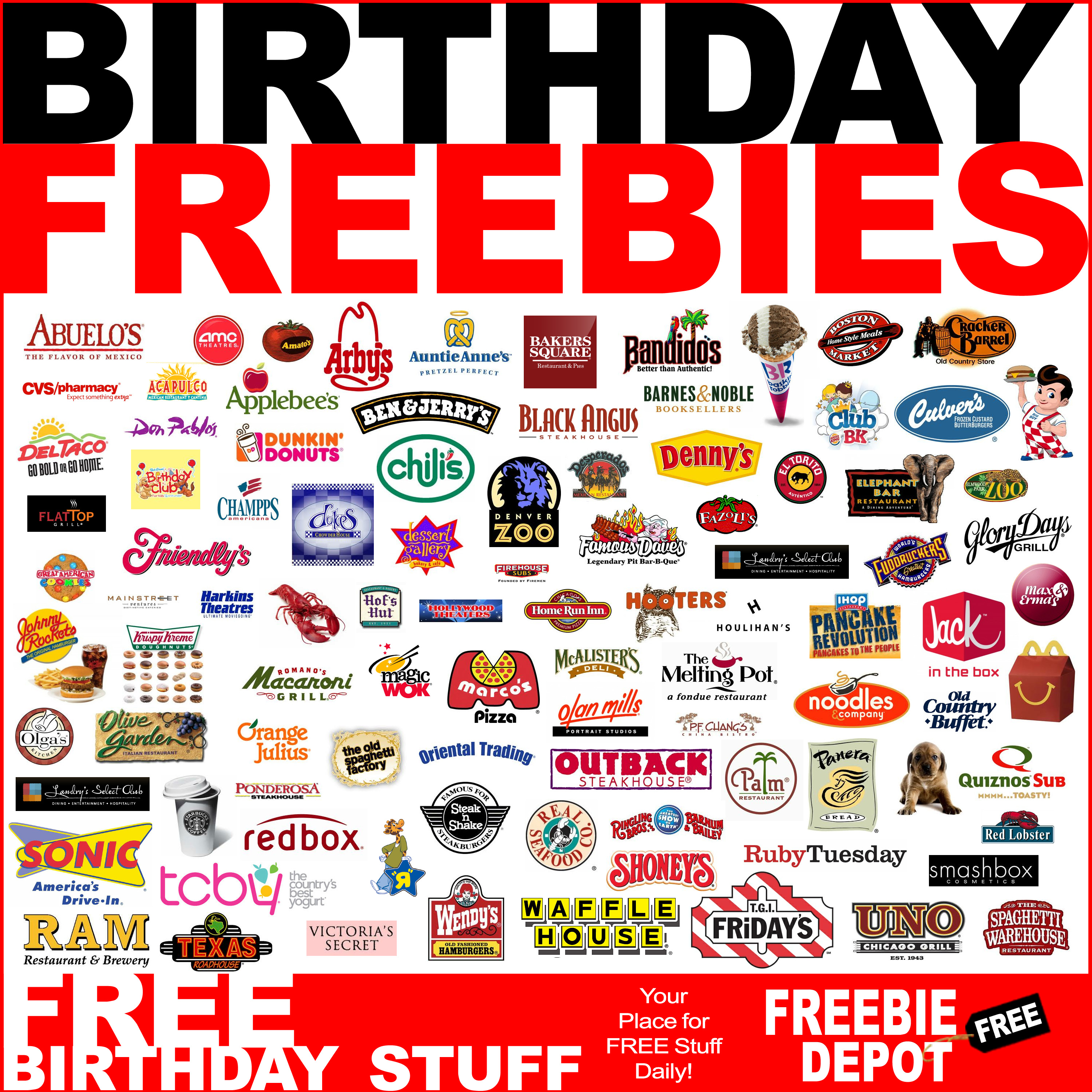 free food on your birthday ; Free-Birthday