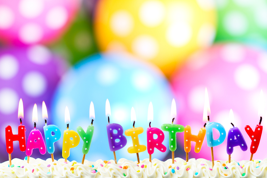 free food on your birthday ; bigstock-Colorful-happy-birthday-candle-49763567