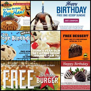 free food on your birthday ; birthday-freebies-list-2013-restaurants