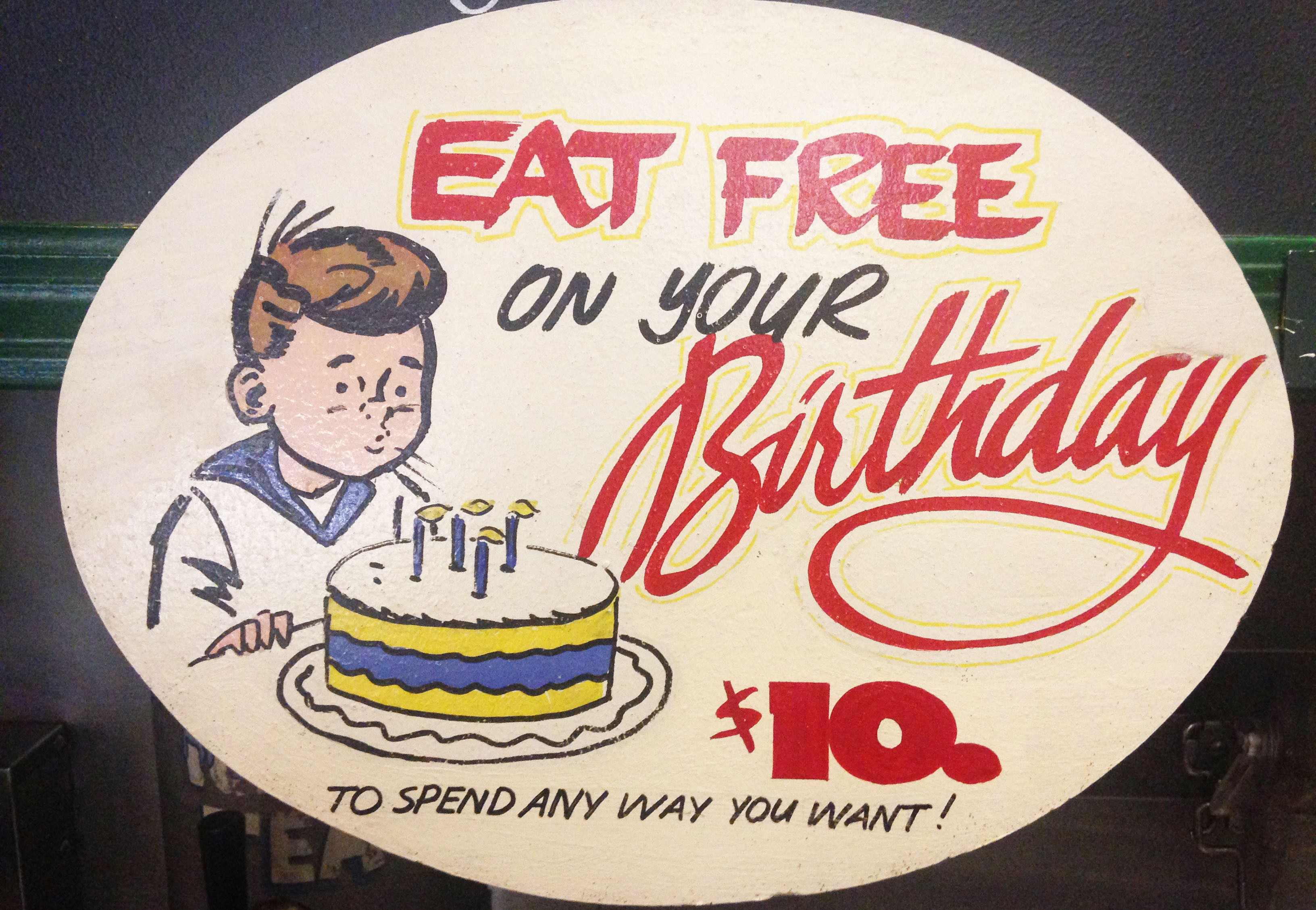free food on your birthday ; free-food-bday-ofelia-montelongo