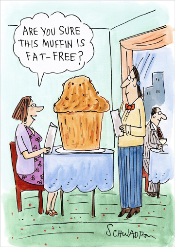 free funny birthday image ; cd3785-fat-free-muffin-birthday-card