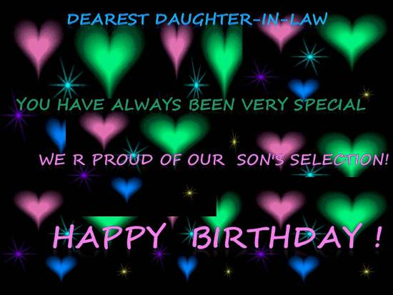 free happy birthday wish to daughter n law ; 305837