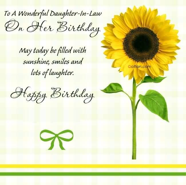 free happy birthday wish to daughter n law ; Awesome-Sun-Flower-Birthday-Wishes-For-Daughter-In-Law-Quotes-Greetings