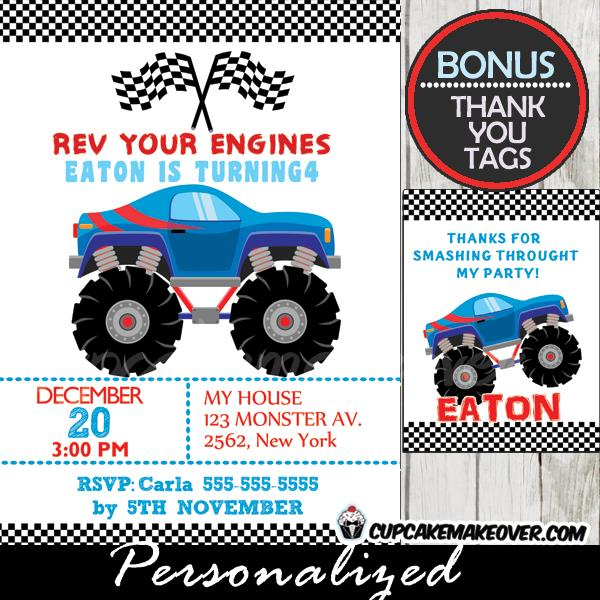 free monster truck birthday invitation template ; monster-truck-birthday-invitations-for-the-invitations-design-of-your-inspiration-Birthday-Invitation-Templates-party-20