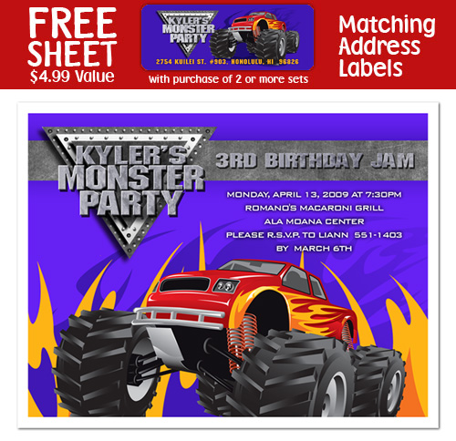 free monster truck birthday invitation template ; monster-truck-birthday-invitations-in-support-of-invitations-your-Birthday-Invitation-Templates-with-awesome-ornaments-19