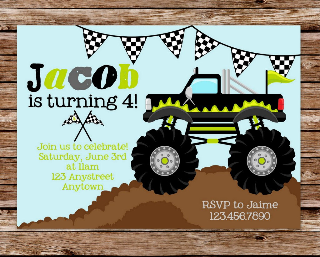 free monster truck birthday invitation template ; monster-truck-birthday-invitations-with-a-exceptional-invitations-specially-designed-for-your-Birthday-Invitation-Templates-13
