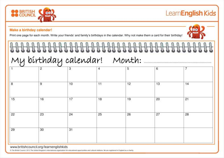 free office birthday list template ; Monthly-Birthday-Calendar-Template-1-788x557