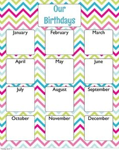 free office birthday list template ; chevron-printable-birthday-charts-for-classroom_101610