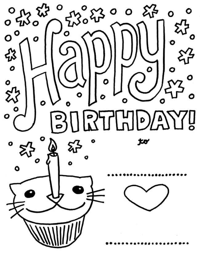 free printable birthday cards for girls ; free-printable-birthday-cards-to-color-printable-birthday-cards-to-color-for-friends-journalingsage-blue-beetle-coloring-pages