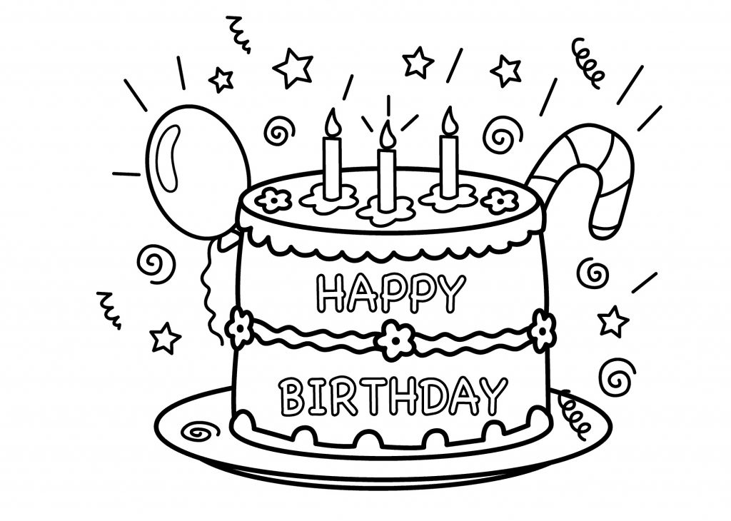 free printable birthday colouring pages ; Birthday-Cake-Color-Page-1024x730