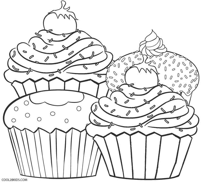 free printable birthday cupcake coloring pages ; Cupcakes-Coloring-Sheets-Beautiful-Coloring-Pages-Of-Cupcakes