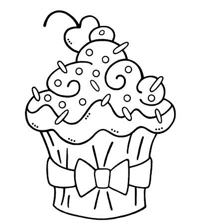 free printable birthday cupcake coloring pages ; bdffdcf6fce2e868fdcd87a6886d25f4--bow-cupcakes-cupcake-party