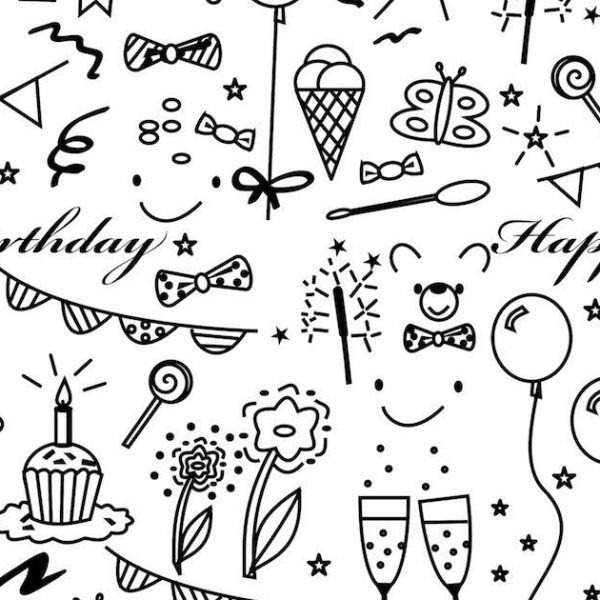 free printable birthday wrapping paper ; birthday-wrapping-paper-designs-printable-world-of-printables-with-printable-birthday-wrapping-paper-black-and-white-2018