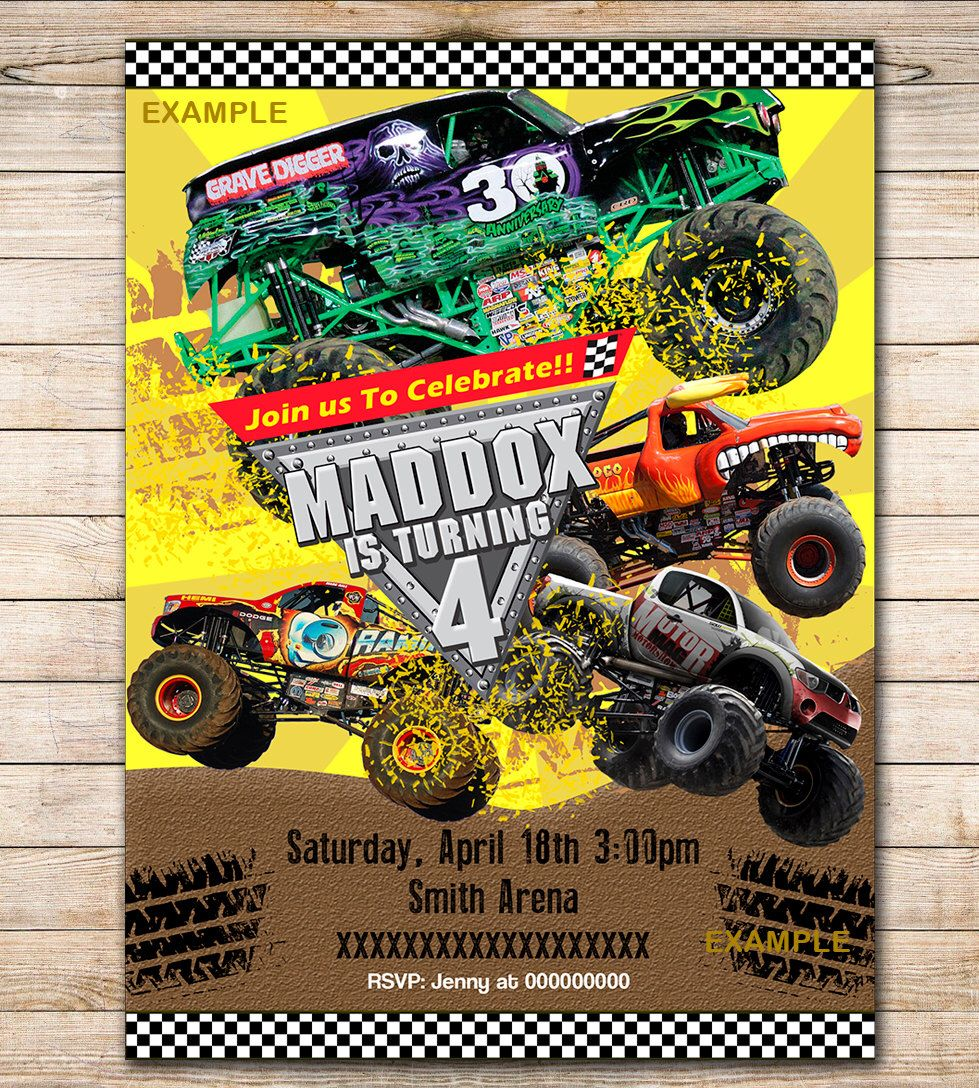 free printable grave digger birthday invitations ; ed702387e4583a03897284600def00ad