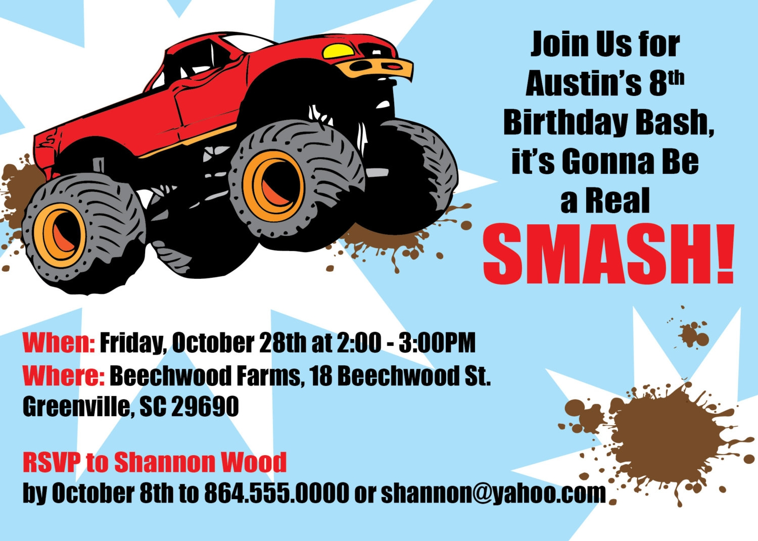 free printable grave digger birthday invitations ; free-printable-grave-digger-birthday-invitations-12-f-smash-free-printable-monster-truck-birthday-invitations