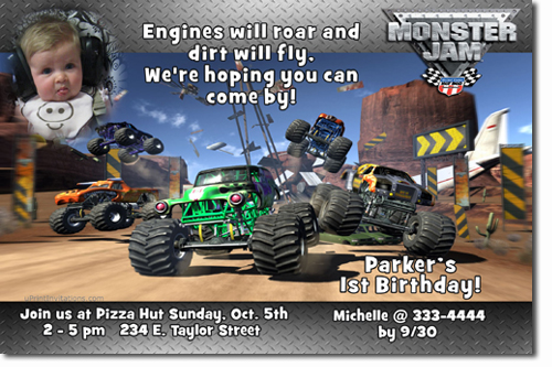 free printable grave digger birthday invitations ; monster%2520truck%2520jam