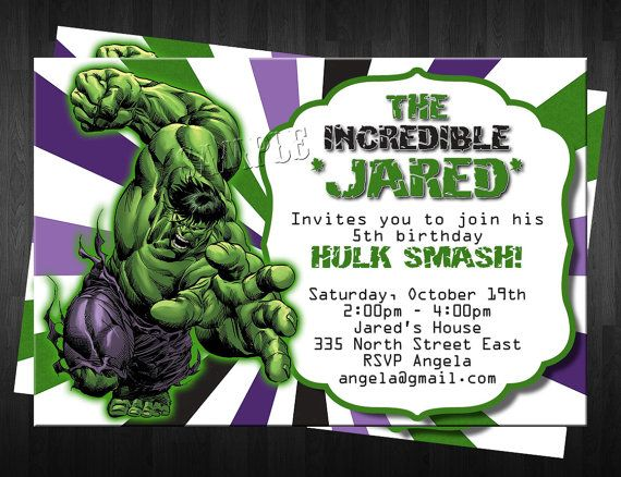 Free Printable Hulk Birthday Invitations 3a9a9cde26e5ef435a97d26116c38d59