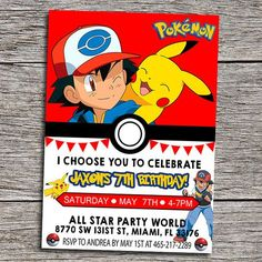 free printable pokemon birthday invitations ; 2052e66b721b7429fcd616feba9cacc7--invitations-kids-birthday-party-invitations
