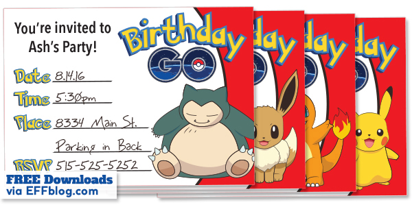 free printable pokemon birthday invitations ; Pokemon-Go-Horizontal