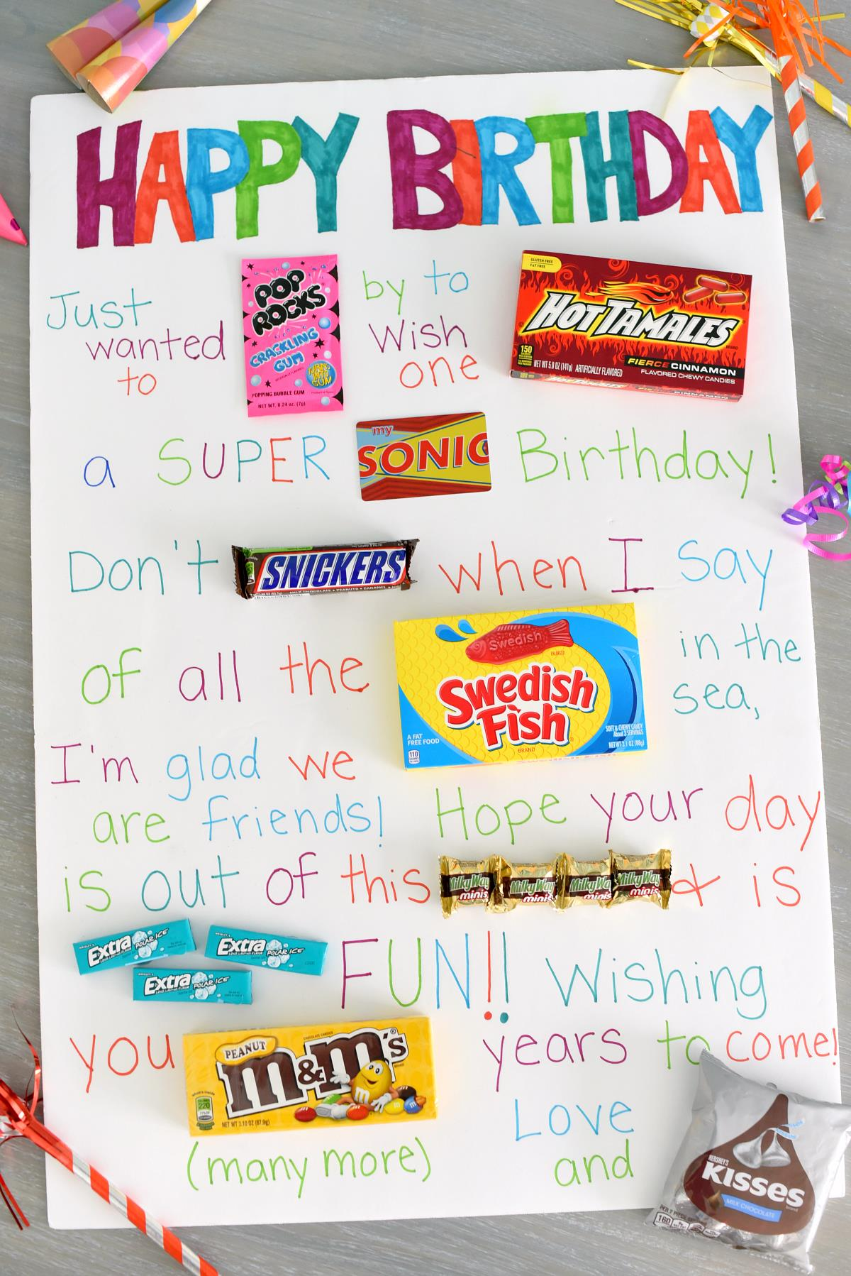 friend birthday poster ; Candy-Poster