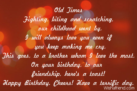 from brother to sister birthday poem ; 1984-brother-birthday-poems