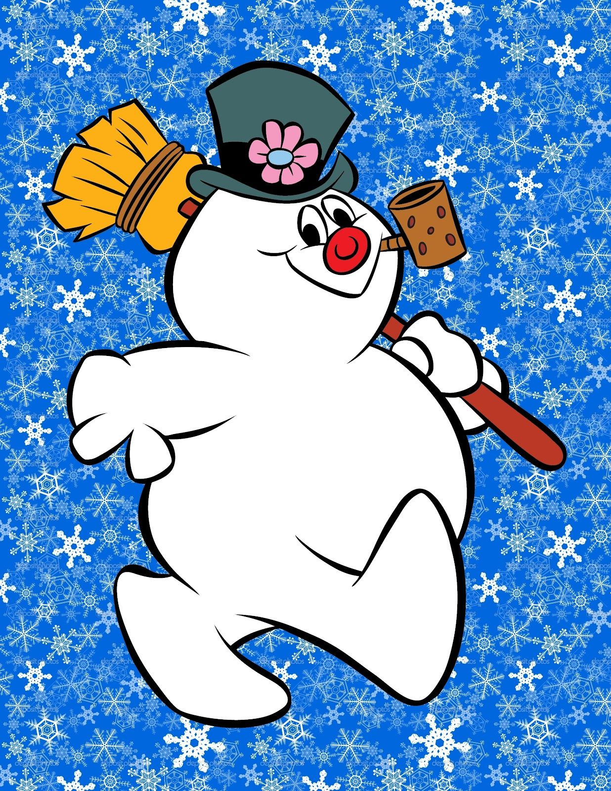 frosty the snowman saying happy birthday ; 0da71c36256d0c8f96747bba7e3f9184