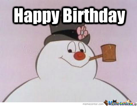 frosty the snowman saying happy birthday ; 4109805-9041193278-frost