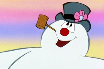 frosty the snowman saying happy birthday ; 6e672fafb0f29ceaf9c43d537e27a163