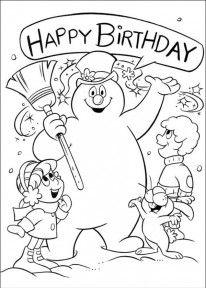 frosty the snowman saying happy birthday ; 983c95d87d685e777792d705248895f6--printable-coloring-pages-adult-coloring-pages